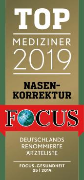 TOP MEDIZINER 2019 - Nasenkorrektur Focus