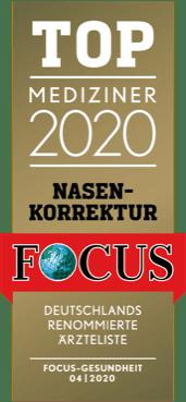 TOP MEDIZINER 2020 - Nasenkorrektur Focus