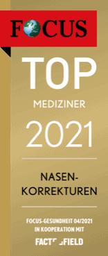 TOP MEDIZINER 2021 - Nasenkorrektur Focus